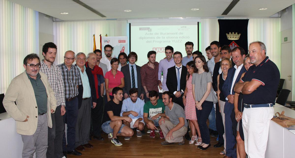 concursantes y organizadores de Yuzz Sant Cugat 2015